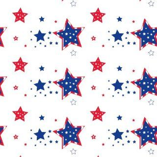 "Northwest Enterprises Heavy Duty Printed Plastic Table Cover, 54 x 108"", Patriotic Stars Toys & Games"