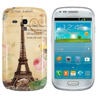 kwmobile Hard case City design (Paris) for Samsung Galaxy S3 Mini i8190 in Beige Cell Phones & Accessories
