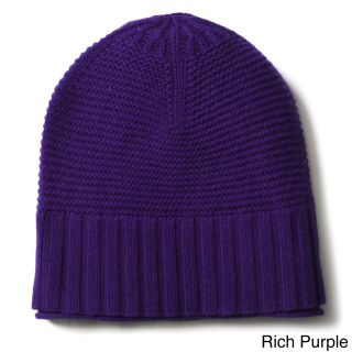 Ply Cashmere Ply Cashmere Ribbed Hat Purple Size One Size Fits Most