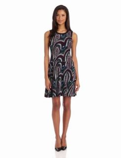 Evan Picone Women's Woven Canyons Drop Waist Dress