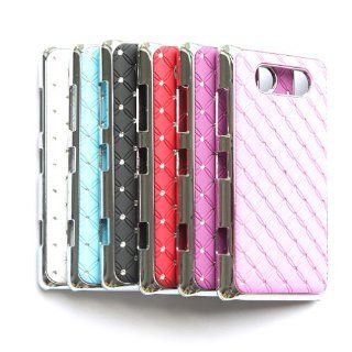 "ivencase 6pcs X Rhinestone Bling Chrome Plated Case Cover for Nokia Lumia 820 (colorblack,white,red,skyblue,pink,purple) + One phone sticker + One ""ivencase"" Anti dust Plug Stopper Cell Phones & Accessories"