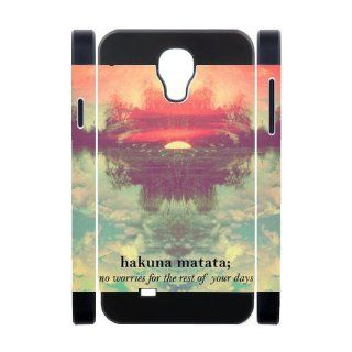 Custom Hakuna Matata Cover Case for Samsung Galaxy S4 I9500 S4 1559 Cell Phones & Accessories