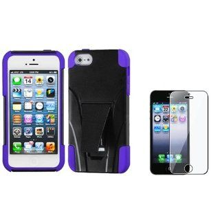 eForCity Purple Inverse Advanced Armor w/Stand Protector Cover +LCD cover compatible with iPhone� 5 5th G Cell Phones & Accessories