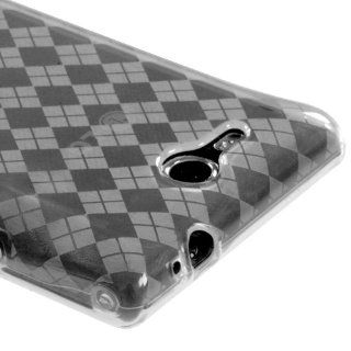 T Clear Argyle Pane Candy Skin Cover For LG VS840(Lucid 4G) Cell Phones & Accessories