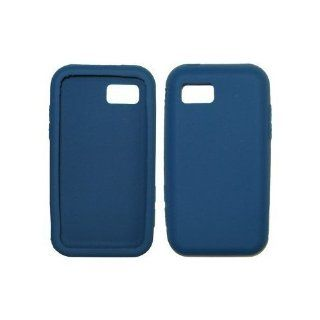 Dark Blue Soft Silicone Gel Skin Cover Case for Samsung Eternity A867 Cell Phones & Accessories