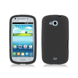 Black Soft Silicone Gel Skin Cover Case for Samsung Galaxy Axiom SCH R830 Cell Phones & Accessories