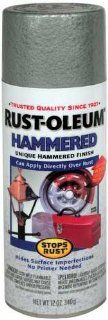 Rust Oleum 7213830 Hammered Metal Finish Spray, Silver, 12 Ounce   Spray Paints