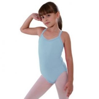 So Danca Little Girls 4 6X Lt Blue Rhinestone Band Dance Tank Leotard No Clothing