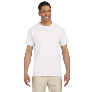 Gildan Mens Ultra Cotton Pocket Undershirts (pack Of 6)