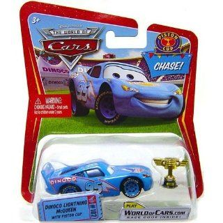 Disney / Pixar CARS Movie 155 Die Cast Car Dinoco Lightning McQueen with Piston Cup Chase Piece Toys & Games