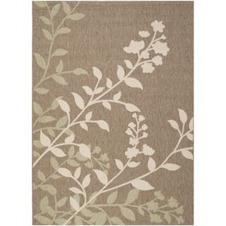 Safavieh Indoor/ Outdoor Courtyard Brown/ Beige Rug (53 X 77)