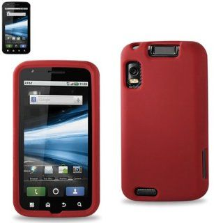 Premium Durable Silicone Protective Case Motorola Atrix 4G(MB860) (SLC01 MOTMB860RD) Cell Phones & Accessories