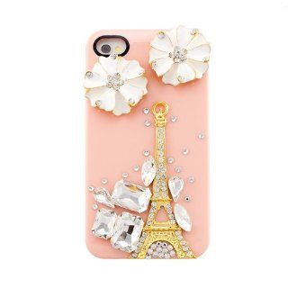 iPremium Case� Luxury Series   3D Eiffel Tower w/ Crystals iPhone 4/4S Case   Handmade DIY   Pink   Perfect Gift   AT&T, Verizon, Sprint (Package includes Extra Crystals & Screen Protector) Cell Phones & Accessories