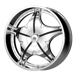 "Helo HE846 Chrome Wheel with Gloss Black Accents   (22x8.5""/5x115, 120mm) Automotive"