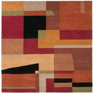 Safavieh RD868A 6SQ Rodeo Drive Collection Handmade Rust and Multi Wool Square Area Rug 6 Feet Square   Area Rugs Contemporary