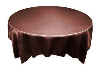 "90x90"" Square SATIN Table Overlays Wedding Decorations   Chocolate Brown   Tablecloths"
