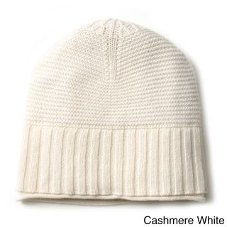 Ply Cashmere Ply Cashmere Ribbed Hat White Size One Size Fits Most