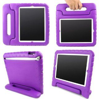 Kid Friendly Durable Handle Case for Apple iPad 3 / 4 with Kickstand (Purple) Computers & Accessories