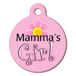 Dog Tag Art Custom Pet ID Tag for Dogs   Mama's Girl   Large   1.25 inch  Pet Identification Tags