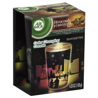 Air Wick Color Changing Scented Candle Silhouette Edition, Cinnamon Roasted Chestnuts, 4.23 Ounce Health & Personal Care