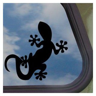 Gecko Lizards Black Decal Car Truck Bumper Window Sticker   Automotive Decals