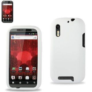 Reiko RKSLC01 MOTXT865WH Premium Durable Silicone Protective Case for Motorola Droid Bionic XT865   1 Pack   Retail Packaging   White Cell Phones & Accessories