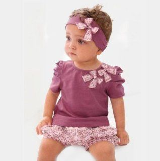 SuperPower 3pcs violet Baby Girl short Top+Pant+Headband Set Infant butterfly Clothes baby shirt girl clothing Infant short 2 3 Years Baby