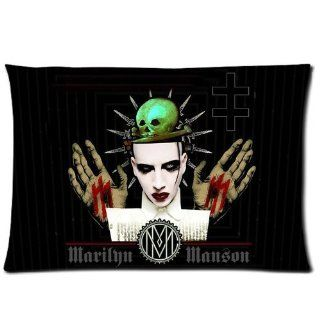 "Custom Marilyn Manson Pillowcase 20""x30"" Pillow Protector Cover WPC 901"