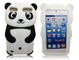 Minidandan Black 3d Cute Panda Bear Silicone Soft Skin Cover Case for Apple Ipod Touch 5 5g 5th Cell Phones & Accessories