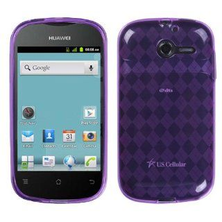 MYBAT Purple Argyle Pane Candy Skin Cover for HUAWEI M866 (Ascend Y) Cell Phones & Accessories