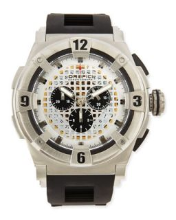 Mens Regata Evolution Chronograph Watch, Stainless Steel/Black   Orefici