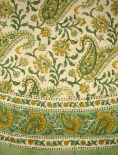 Rajasthan Paisley Tablecloth 72 Inch Round