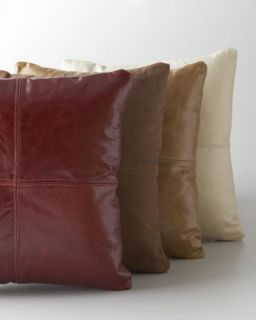 Brown Leather Pillow   Massoud