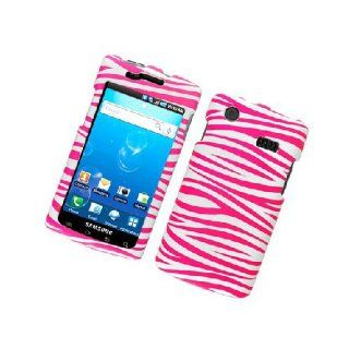 Samsung Captivate i897 SGH I897 Pink White Zebra Stripe Cover Case Cell Phones & Accessories