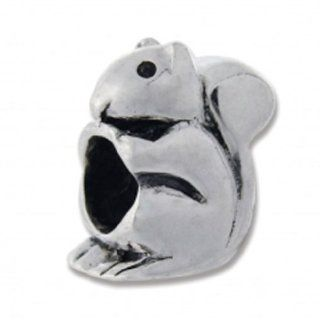 Biagi Sterling Silver Squirrel Bead Charm BS070 Jewelry