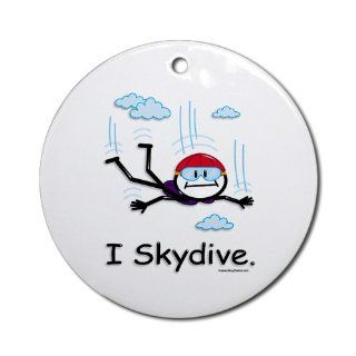 Shop Skydiver Skydiving Ornament Round Round Ornament at the  Home D�cor Store