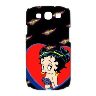 Betty Boop Samsung Galaxy S3 I9300/I9308/I939 Case Cartoon Star Unique Cases Cover Big Red Heart Cell Phones & Accessories