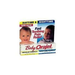 Baby Orajel Daytime and Nighttime Twinpack For Fast Teething Pain Relief 0.18 Oz/Each Health & Personal Care
