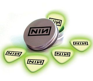 Printed Picks Company Nine Inch Nails NIN 5 X Glow In The Dark Premium Guitar Picks and Tin Musical Instruments