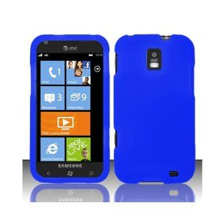 Blue Soft Silicone Gel Skin Cover Case for Samsung Focus S SGH I937 Cell Phones & Accessories