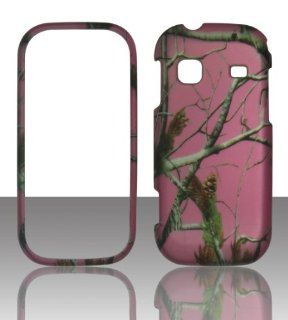 2D Pink Camo Realtree Samsung Gravity TXT T379 T Mobile Case Cover Hard Phone Case Snap on Cover Rubberized Touch Protector Faceplates Cell Phones & Accessories