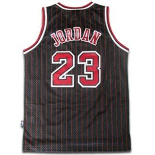 Michael Jordan #23 Chicago Bulls NBA Jersey Black Pinstripe Size XL  Basketball Equipment  Sports & Outdoors