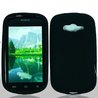 Black Soft Silicone Gel Skin Cover Case for Samsung Galaxy Reverb SPH M950 Cell Phones & Accessories