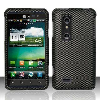 LG Thrill 4G P920 / P925 Case (AT&T) Classy Carbon Fiber Design Hard Cover Protector with Free Car Charger + Gift Box By Tech Accessories Cell Phones & Accessories