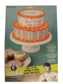 Duff Goldman Edible Cake Cupcake Cookie Tattoo Decorations ~ Happy Birthday  Pastry Decorations  Grocery & Gourmet Food