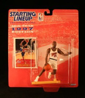 LATRELL SPREWELL / GOLDEN STATE WARRIOR * 1997 * NBA Kenner Starting Lineup & Exclusive TOPPS Collector Trading Card Toys & Games