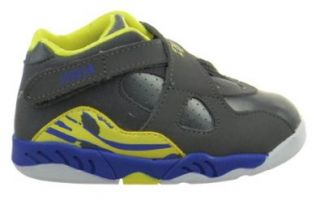 Jordan 8 Retro (TD) Baby Toddlers Shoes Cool Grey/Volt Force/Electric Yellow Basketball Shoes Shoes
