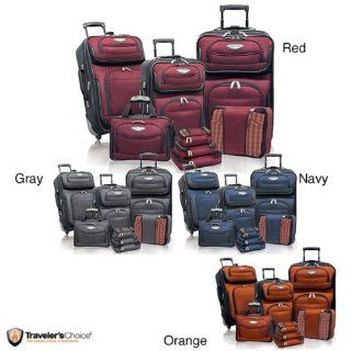 Travel Select Amsterdam TS6950 II 8 piece Deluxe Packing Luggage Set   Navy. New Automotive