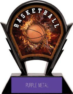 Hasty Awards 6 Stealth Custom Basketball Resin Trophies PURPLE METAL PLATE 6 Custom Basketball Resin  Sports & Outdoors