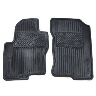 2005 08 NISSAN FRONTIER BLACK 2 PIECE RUBBER ALL WEATHER FLOOR MATS 999E1 BR000 Automotive